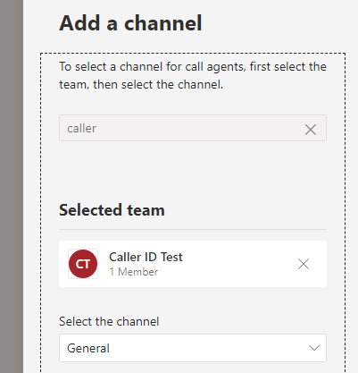 Choose a team for you call agents